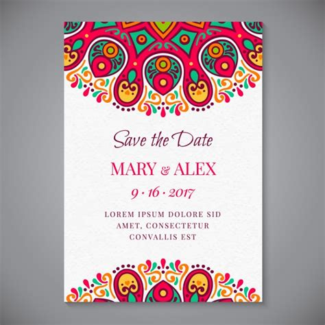 Wedding Invitation Freepik by Mandala Wedding Invitation Vector Free