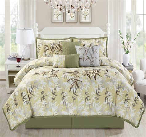 bamboo bedding set luxury embroidery bamboo forest bedding comforter set