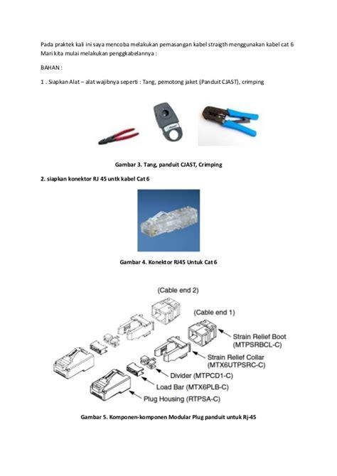 Modular Cat6 Warna Biru penggabelan menggunakan utp cat 6