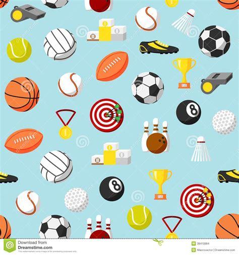 sport pattern background free seamless sports pattern background stock vector