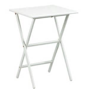 glossy white tray table set