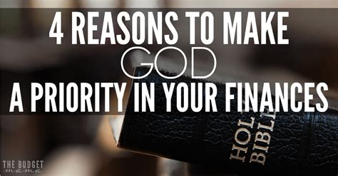 reasons   god  priority   finances jessi