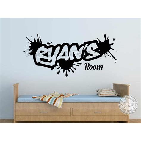 wall art decals for bedroom personalised graffiti wall stickers boy girls bedroom