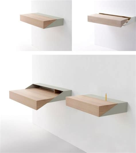 small pull out desk space saving hideaway desks for small apartment designs