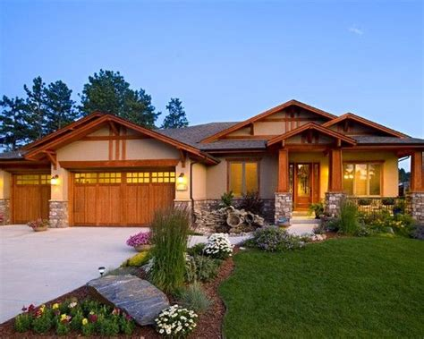 ranch style home decor single story craftsman style homes home colors put craftsman type pillars on front porch
