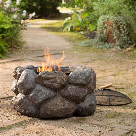 what rocks to use for pit faux rock pit with spark guard the green