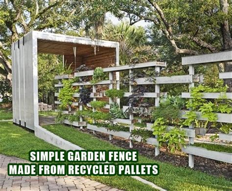 Pallet Garden Fence by Pallet Ideas Fence With Plants Dump A Day