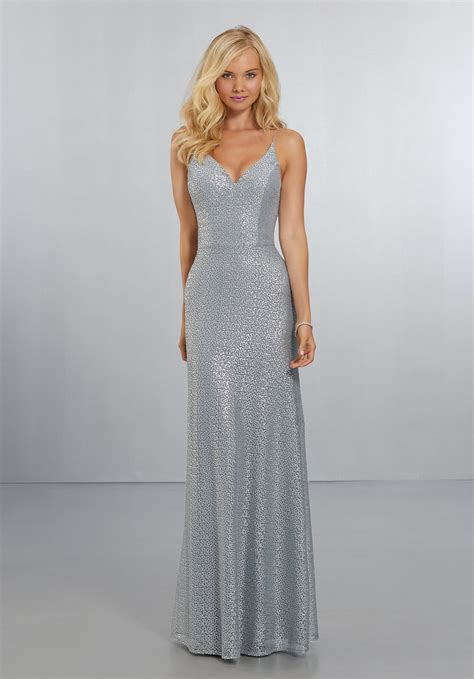 Wedding Dresses And Bridesmaid Dresses by Fitted Caviar Mesh Bridesmaids Dress With V Neckline And