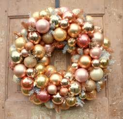 Centerpiece Glass Vases Sale Ornament Wreath Rose Gold Christmas Wreath Pink And