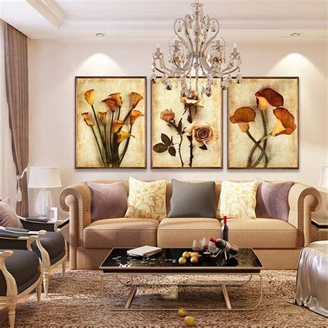 frameless canvas art oil painting flower painting design