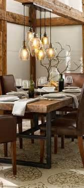 Rustic Dining Room Light Fixtures Dining Rooms Lighting And Tables On Pinterest