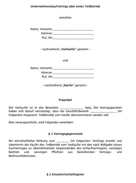 Kaufvertrag Auto Zwischen Unternehmen by Kaufvertrag Unternehmen Asset Deal