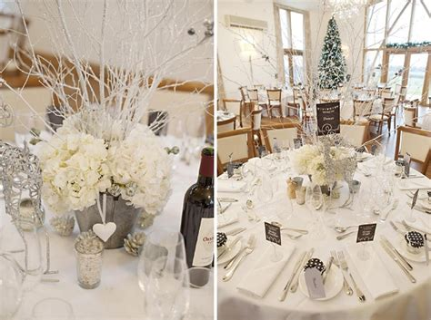 winter wedding table decor winter wedding flowers at mythe barn for flowers