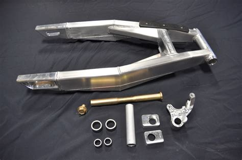 swinging arm custom built extended swingarm extruded aluminum stretched