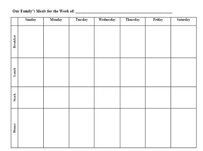 meal planning worksheet meal planning worksheet images