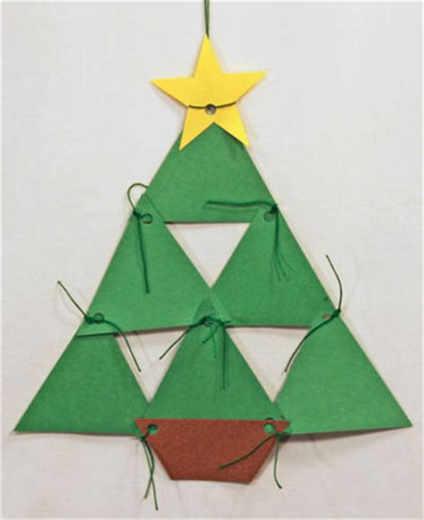 xmas tree activity out of construction paper funezcrafts easy crafts construction paper triangles tree