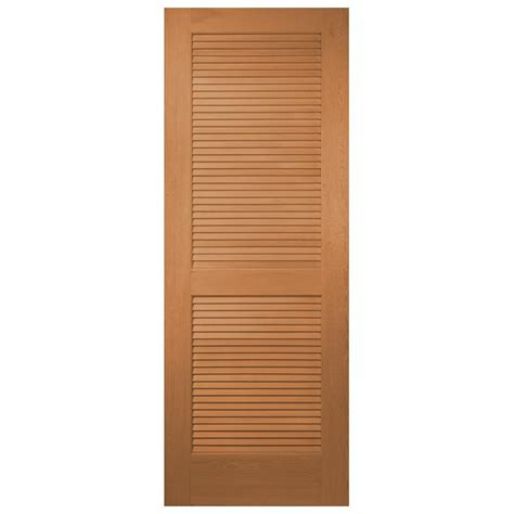 Louvered Doors Home Depot Interior Masonite 24 In X 80 In Unfinished Louver Solid