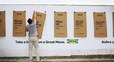 ikea transforms its flat pack cardboard packaging into ikea moving day the inspiration room