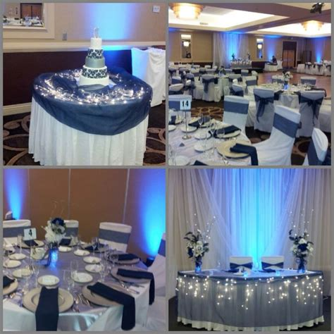 table decorations blue and silver navy blue and silver wedding decor weddings dallas
