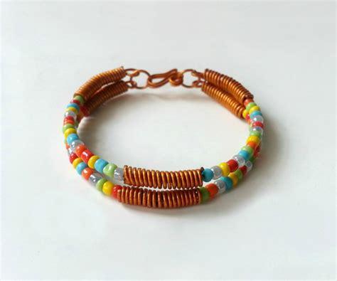 diy bead bracelets diy wire seed bead bracelet 5