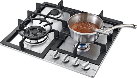 24 In Gas Cooktop - haier hcc2230ags 24 quot gas cooktop 4 burners