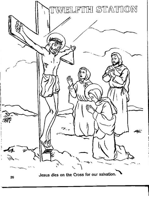 coloring book pages stations of the cross coloring stations