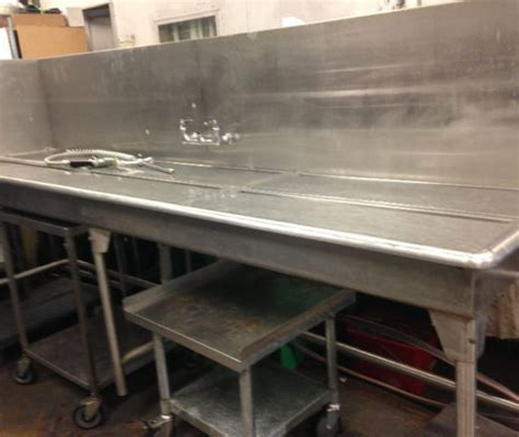 used stainless steel table with sink used tables sinks archives mb food equipment