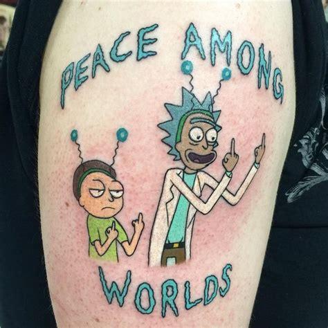 cartoon tattoo perth did a rick and morty tattoo today tattoos pinterest