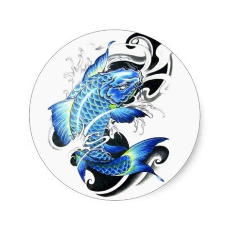 blue koi fish tattoo carp fish images designs