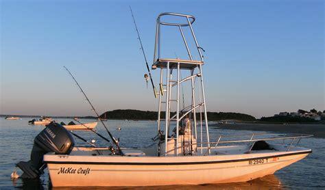 boat rod tower 2002 18 5 quot mckee craft custom tuna tower the hull
