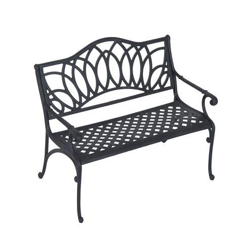decorative park bench outsunny 41 quot lotus flower pattern decorative outdoor