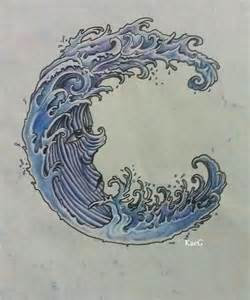 japanese style water japanese waves design of thigh