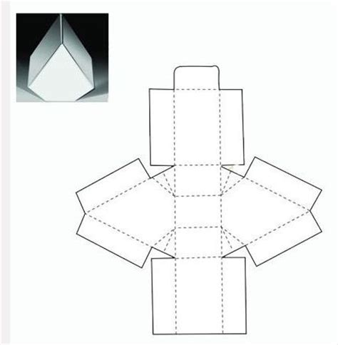 triangle packaging template triangle box net packs triangles and boxes