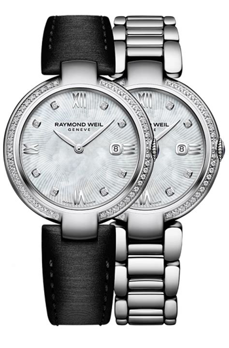 raymond weil stainless steel womens 1600 sts 00995