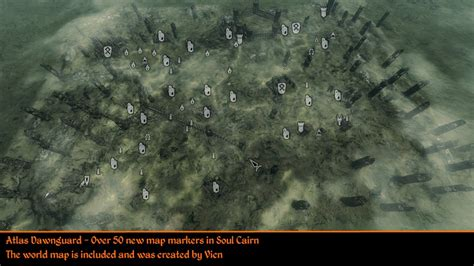 atlas map markers  skyrim blackreach dawnguard