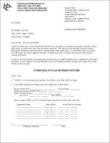 Health Insurance Cover Letter by Ltr Button Documentation
