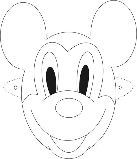 printable mouse mask template mickey mouse mask printable coloring page for