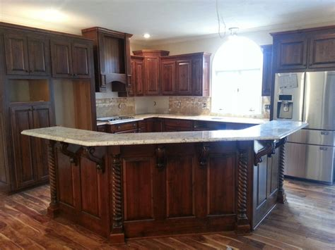 kitchen island with bar beautiful new kitchen using osborne modified bar corbels