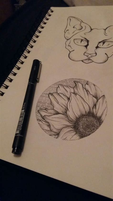 circle tattoo design sunflower circle design