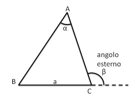 angoli interni triangolo isoscele teorema dell angolo esterno matematica