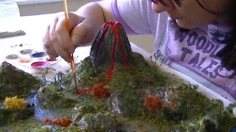 How To Make A Mountain Model Out Of Paper - island school project dressing up the island