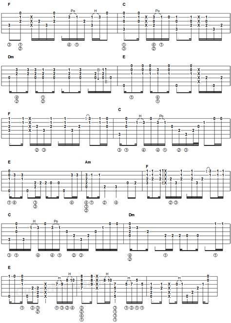 fingerstyle chord tutorial hotel california fingerstyle guitar tablature 2
