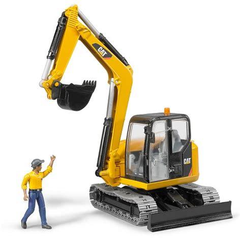 bruder excavator bruder caterpillar mini excavator with worker target