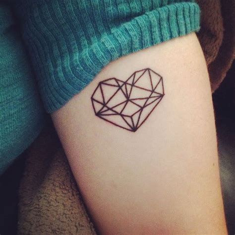 diamond tattoo prison my simple geometric prism style heart tattoo not to be