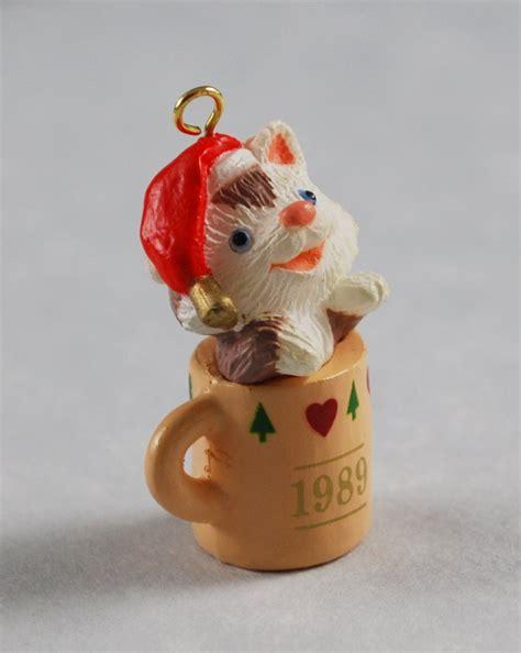 sitting purrty hallmark keepsake vintage miniature