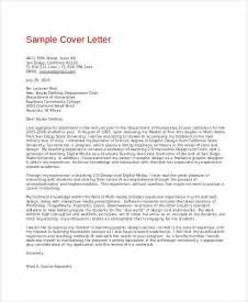 Cover Letter Graphic Design by Sle Graphic Design Cover Letter 8 Exles In Word Pdf
