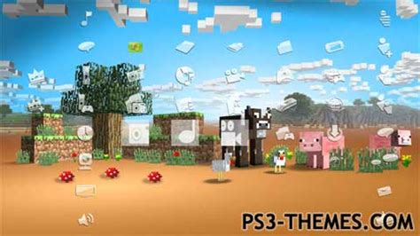 ps3 live themes download ps3 themes 187 xbox 360 minecraft theme