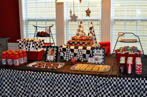 Theme Decorations by Race Car Birthday