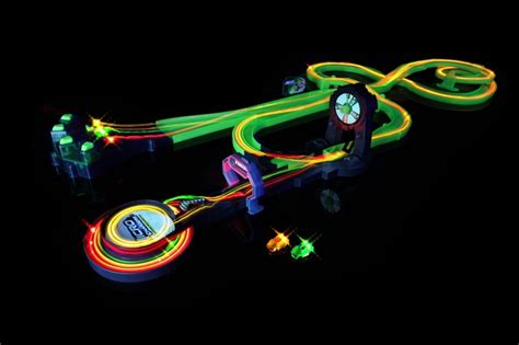light up race track new electronic micro racing led cars light racers glow in