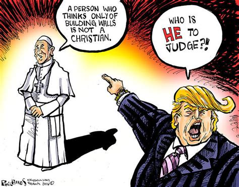 Hands on Wisconsin: The Donald tries to trump the pope